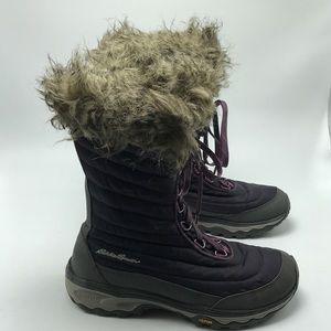 Eddie Bauer Purple Winter Solstice Boots Lace Sz 8